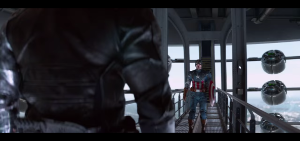 "The 1940's Cap costume from ""The First Avenger"" makes a triumphant return in ""The Winter Soldier""."