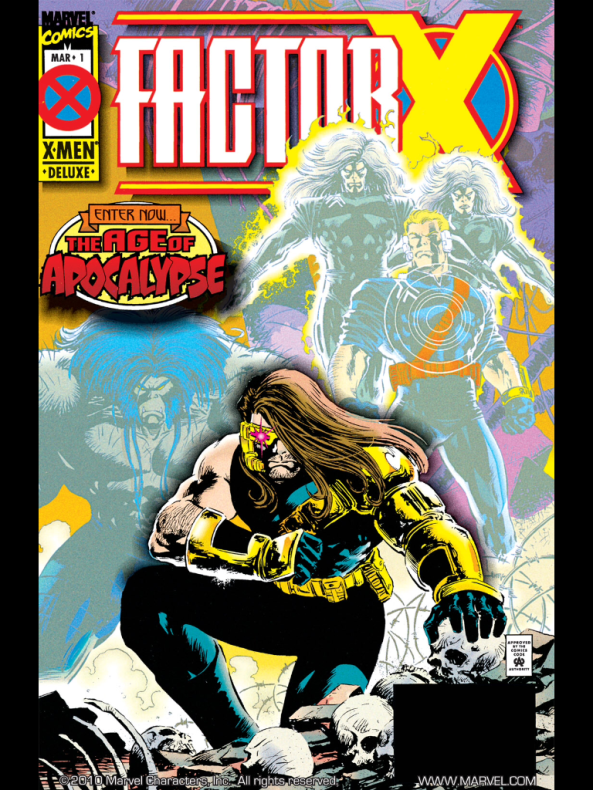 'Tis was the Age of Apocalypse and horrible hairstyles, the dreadful 90's.