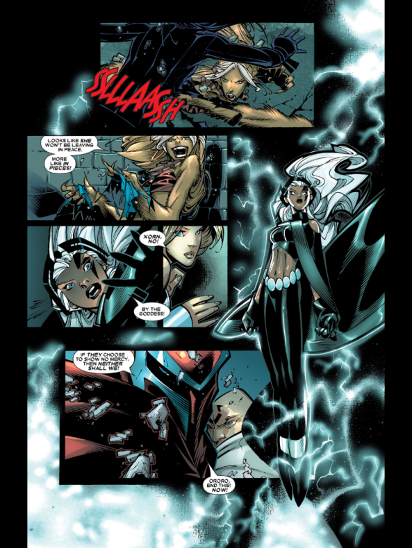 Storm being badass in a way the movies have resolutely refused to let her be.