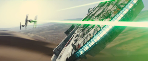 8. The Millenium Falcon vs TIE Fighters